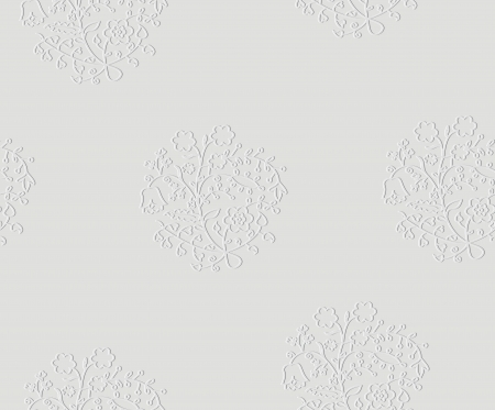 Vector white wedding seamless pattern with embossed floral ornament Illustration