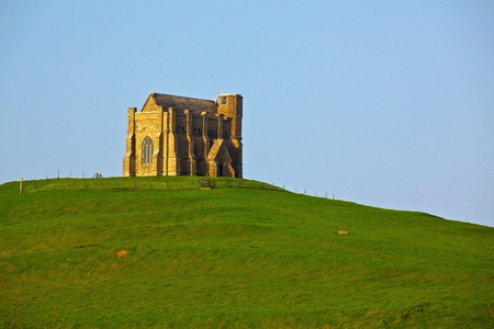 Old monastery near village of West Chaldon in south England Stock Photo