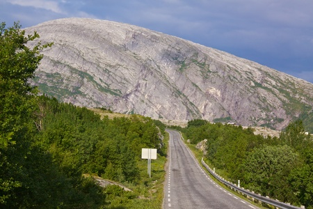 Picturesque scenery on the Norwegian National Tourist Road