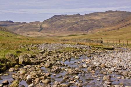 lake district england: Stream in Duddon Valley, Lake District, England Stock Photo