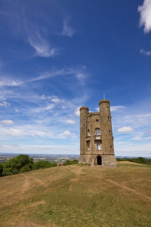 broadway tower: Romantic old Broadway Tower in Cotswolds, England Stock Photo