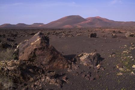 Volcanic park Timanfaya on island Lanzarote, Canary Islands