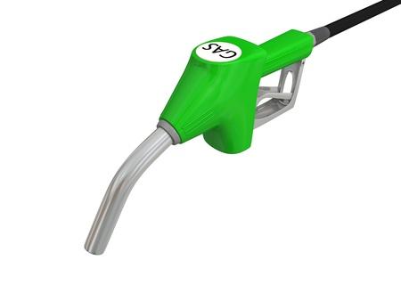 Close-up illustration of fuel pump nozzle isolated on white background illustration