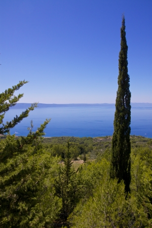 balkan peninsula: Scenic view of Dalmatian coast on Makarska Riviera in Croatia