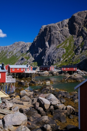 Picturesque traditional village of Nusfjord on Lofoten islands. Stock Photo - 17235532