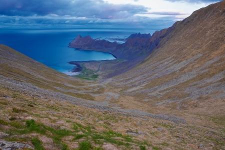 U shaped valley on Lofoten islands in Norway
