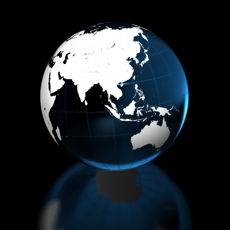 Elegant model of Earth isolated on black background. Elements of this image furnished by NASA. photo