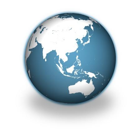 地球白い背景で隔離のモデル。 写真素材