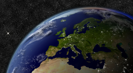 Europe from space photo