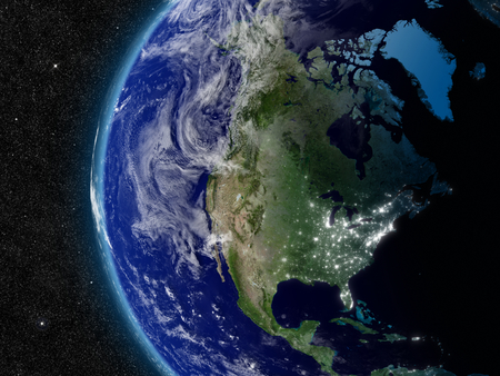 North America from space. photo