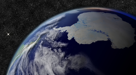 antarctica: Antarctica from space.