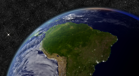 South America from space. photo
