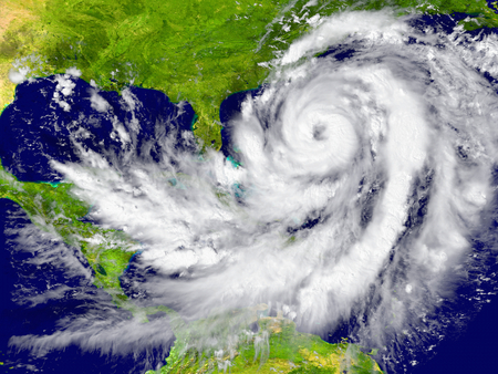 hurricane: Huge hurricane between Florida and Cuba. Elements of this image furnished by NASA
