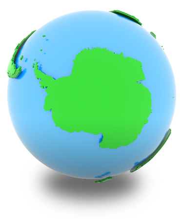 the antarctic: Antarctic, political map of the world in various shades of green.