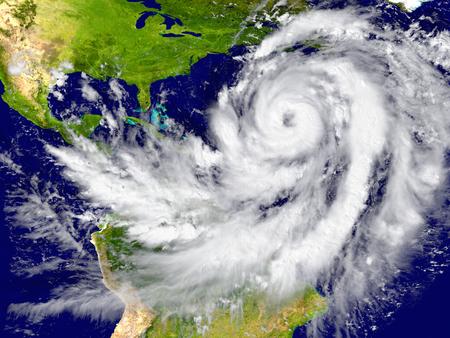 estado del tiempo: Enorme huracán sobre el Atlántico. Los elementos de esta imagen proporcionada por la NASA