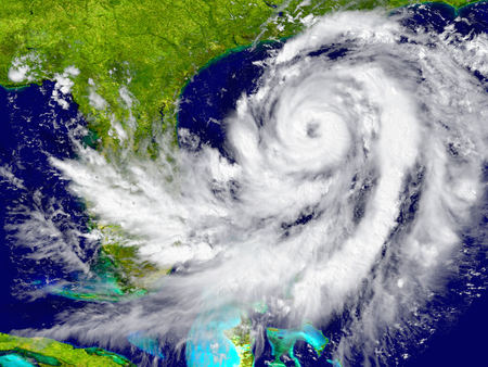 extreme weather: Huge hurricane near Florida in America.