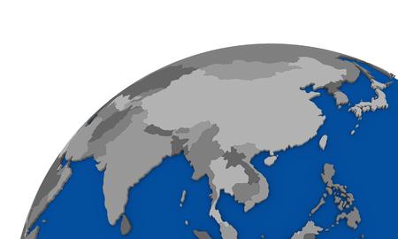 southeast Asia region on globe