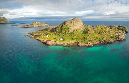 islets: Picturesque islets on the coast of Lofoten islands in Norway