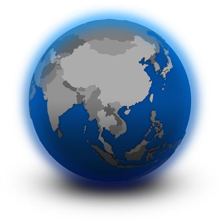 southeast asia: southeast Asia on political globe, illustration isolated on white background Stock Photo