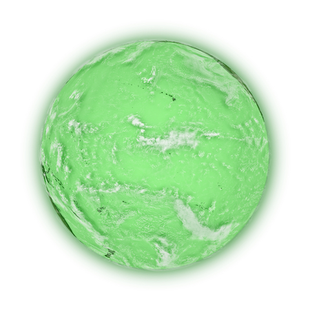 pacific ocean: Pacific Ocean on green planet Earth isolated on white background. Highly detailed planet surface.