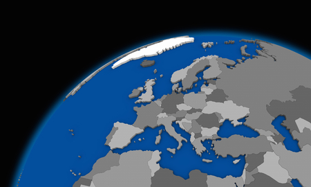 smog: Europe on planet Earth, political map