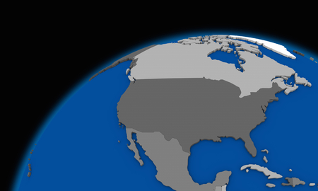 north america: north America on planet Earth, political map
