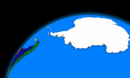 antarctica: Antarctica on planet Earth, political map