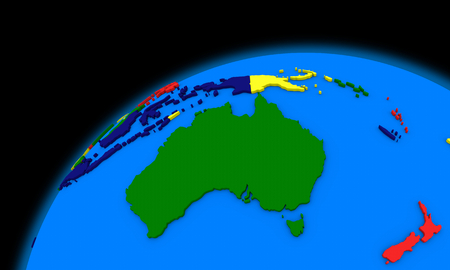 smog: Australia on planet Earth, political map