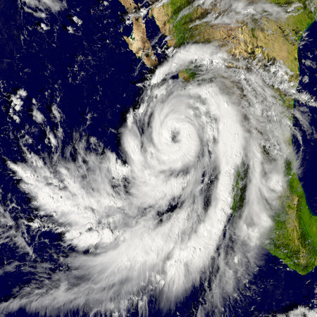 pacific: Illustration of hurricane Patricia over the Pacific. Elements of this image furnished by NASA Stock Photo