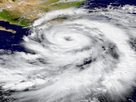Illustration of hurricane Patricia over the Pacific. Elements of this image furnished by NASA Фото со стока