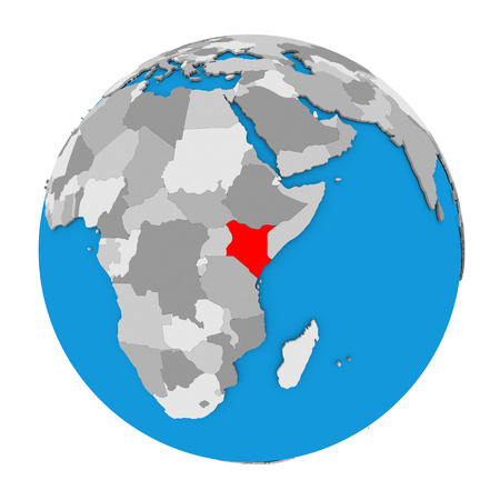 Kenya map images stock pictures royalty free kenya map photos map of kenya highlighted in red on globe 3d illustration isolated on white background gumiabroncs Choice Image