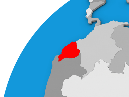 Map of ecuador on globe highlighted in red 3d illustration stock 70225862 ecuador highlighted in red on globe with visible country borders 3d illustration gumiabroncs Image collections