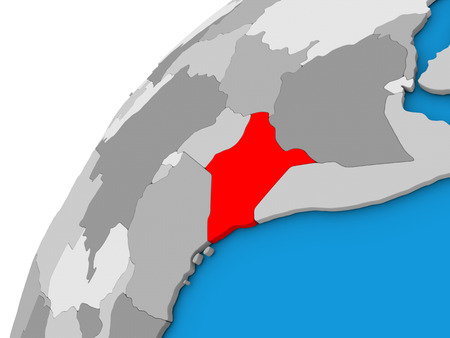 Map of kenya highlighted in red on globe 3d illustration isolated 70225976 kenya highlighted in red on globe with visible country borders 3d illustration gumiabroncs Choice Image