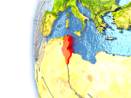 Tunisia Map Stock Photos Pictures Royalty Free Tunisia Map - Tunisia earth map