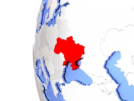 Map of ukraine on elegant metallic globe 3d illustration stock illustration map of ukraine on elegant metallic globe 3d illustration gumiabroncs Gallery