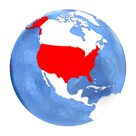 Globe United States Of America Stock Photos Pictures Royalty - Globe of usa