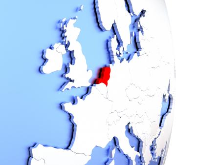map of netherlands: Map of Netherlands on an elegant polished globe. 3D illustration