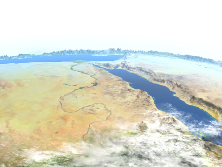Egypt. 3D illustration with detailed planet surface. Stock Photo