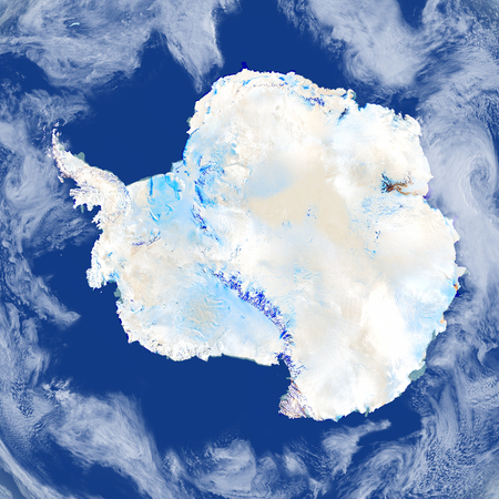 antarctic: Antarctic. 3D illustration with detailed planet surface. Stock Photo