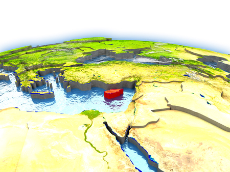 Country of Cyprus on model of Earth. 3D illustration.