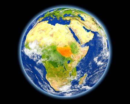 남 수단 지구에. 자세한 행성 표면 3D 그림입니다. 이 이미지의 요소는 NASA에서 제공 한 것입니다. 스톡 콘텐츠