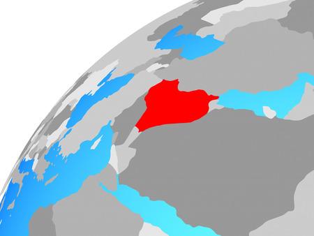 Iraq on globe. 3D illustration.