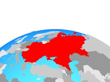 Eastern Europe on political globe. 3D illustration.