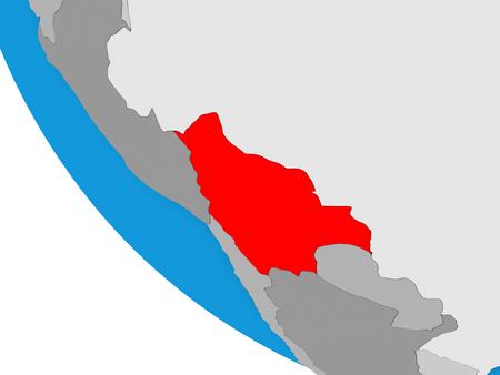 Bolivia on simple 3D globe. 3D illustration. Reklamní fotografie