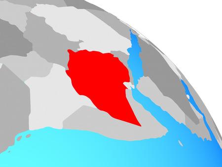 Ethiopia on simple blue political globe. 3D illustration. Banque d'images - 109748458