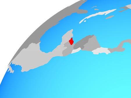 Belize on globe. 3D illustration.