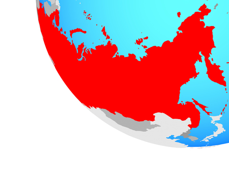 Soviet Union on simple globe. 3D illustration. 版權商用圖片