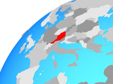 Austria on globe. 3D illustration. 写真素材