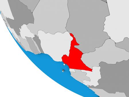 Cameroon on simple 3D globe. 3D illustration. Imagens