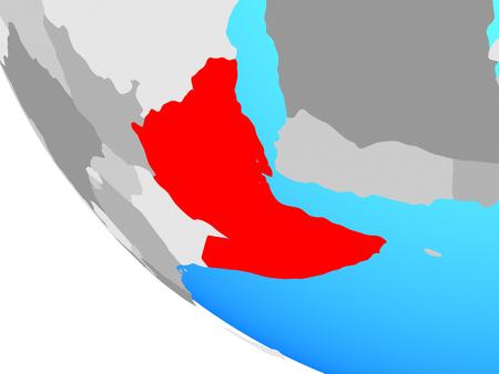 Horn of Africa on simple globe. 3D illustration. Stockfoto